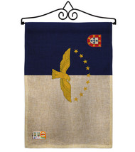 Azores Burlap - Impressions Decorative Metal Wall Hanger Garden Flag Set... - $33.97