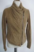 VINCE | Suede Scuba Jacket women's sz M — $995 leatherV135290838 IN CAMEL TAN - $395.99