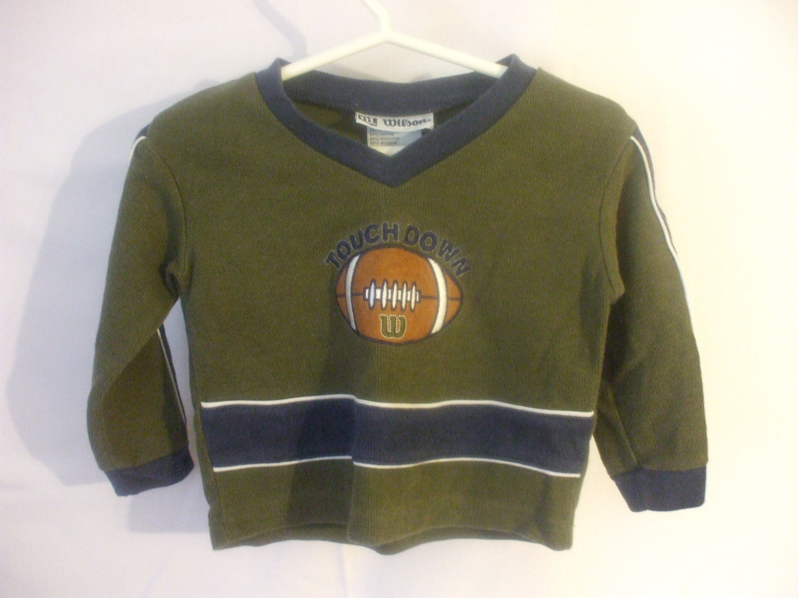 Toddlers Green Shirt Long Sleeves 18 Months Cotton Blend Wilson