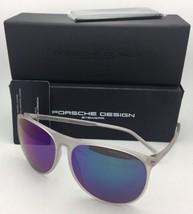 New PORSCHE DESIGN Sunglasses P'8596 A Matte Frost Frame with Violet-Blue Mirror