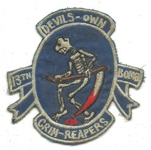 USAF 13th bomb Grim Reapers  Devil's Own Grim Reapers Vintage Vietnam Patch - $11.87