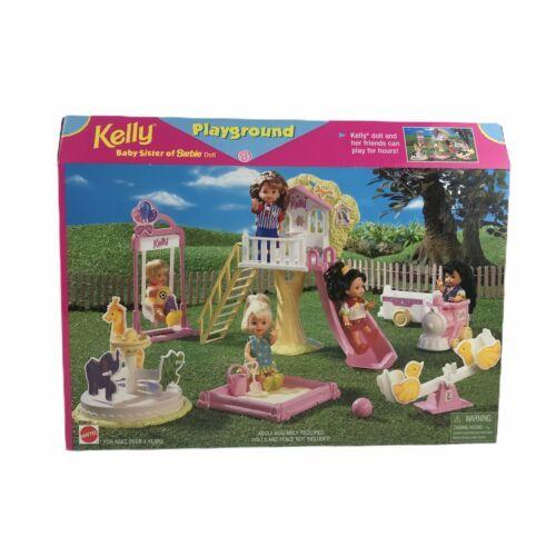 Mattel Barbie Doll 1998 Kelly Baby Sister of Barbie Playground Set Playset Toy - $93.11