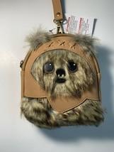 New 2020 Disney Parks Loungefly Star Wars Ewok Mini Backpack Wristlet Be... - $58.88