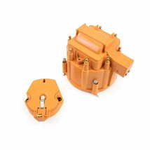 Distributor Cap with Rotor and Coil Cover Kit for SBC BBC Chevy 65K Coil Orange