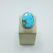 Natural Kingman Turquoise 925 Silver Ring - $60.00