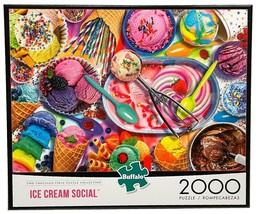 New Buffalo Games Ice Cream Social 2000 Piece Jigsaw Puzzle - $29.65