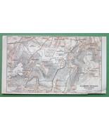 1907 MAP ORIGINAL Baedeker - PARIS Clamart Sceaux Villejuif France - $5.07