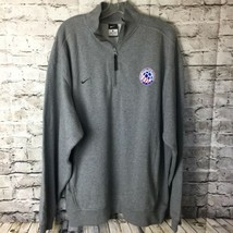 Nike USA United States Adult Soccer Assoc L/S 1/2 Zip Sz L Mens Gray Swe... - $33.70