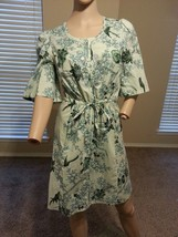Plenty Tracy Reese Anthropologie Sheer Floral Bird Print Dress Coverup S - $75.99