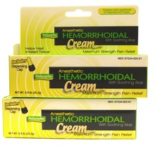 2X Natureplex Anesthetic Hemorrhoidal Cream Relieves Itching Burning - $12.80