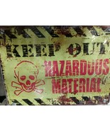 "Keep Out Hazardous Material Metal Sign New in Plastic 10"" x 13"" - $16.82"