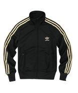 Adidas Original Women Firebird Rasta Black And Gold Colors Jacket Hoodie... - $99.99