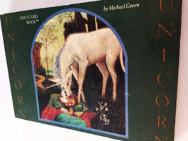 Unicorn Postcard Book, Green, Michael  Vintage Collectible 0894714236 - $69.79
