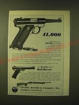 1966 Ruger .22 Standard Model Pistol and Mark I Bull Barrel Pistol Ad - $14.99