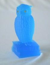 Westmoreland Blue Glass Owl On Books Figurine - $19.80