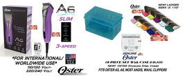 OSTER A6 SLIM ULTIMATE CLIPPER KIT&10 BLADE,10pc SS GUIDE COMB SET*WORLD... - $339.99