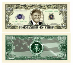 Pack of 25 - Donald Trump Re-Election Presidential Novelty Dollar Commander - $9.85