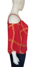 Bold Elements Cold Shoulder Blouse Size XL in Red image 2