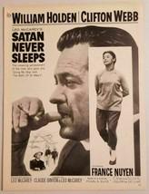 "1962 Magazine Movie Ad ""Satan Never Sleeps"" William Holden, France Nuyen - $14.30"