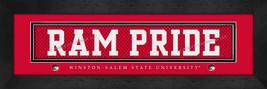 Winston-Salem State University 8x24 Slogan Stitched Jersey Framed Print - $39.95