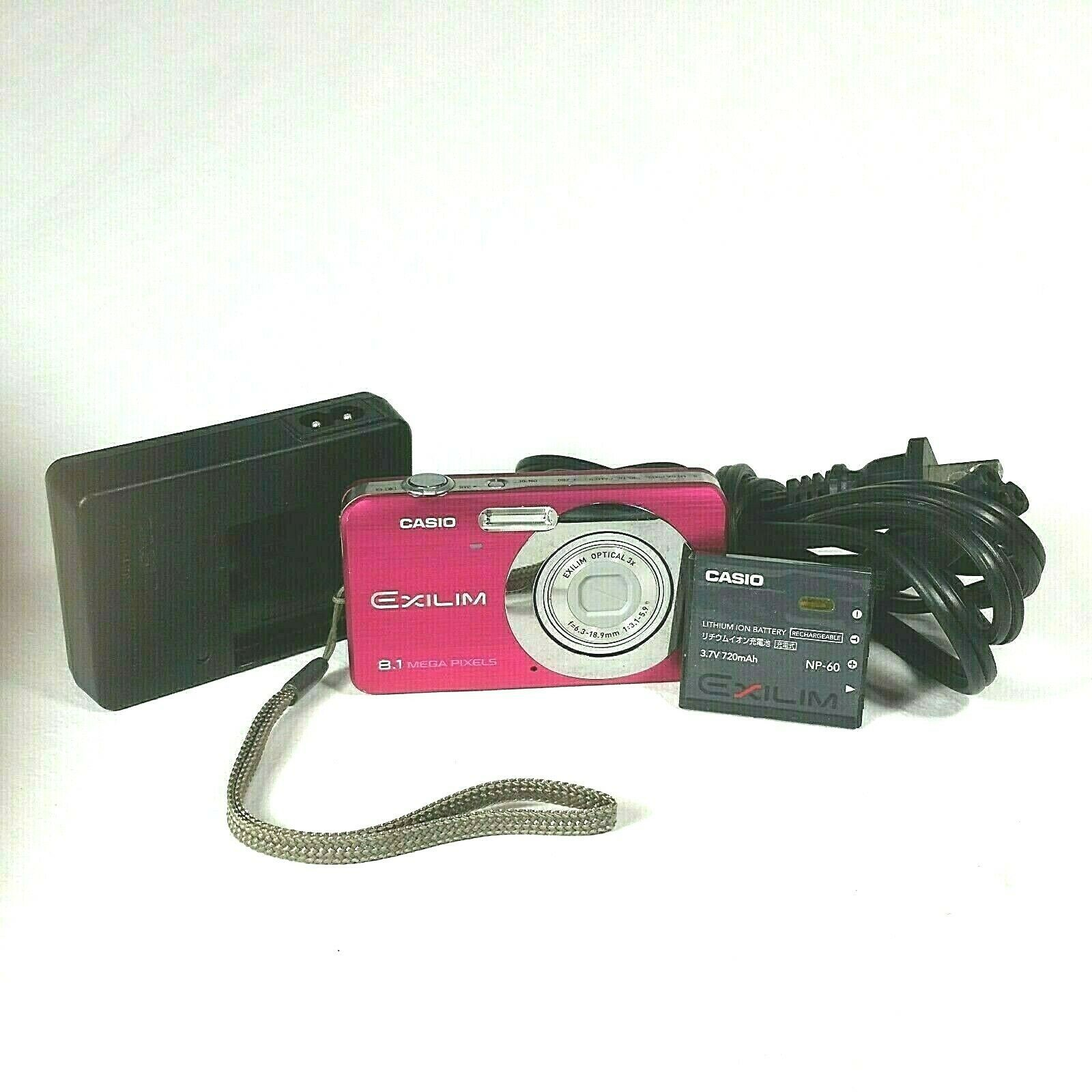 Primary image for Casio Digital Camera EXILIM EX-Z80A 8.1 Megapixels 3X Optical Zoom Pink Charger