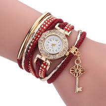 Fashion Ladies Dress Luxury Key Bracelet Vintage Women Quartz Watch - $7.23