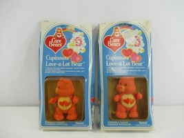 Care Bears Love-A-Lot Poseable Figures Lot of 2 Vintage 1983 NOS Sealed ... - $38.52