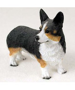 WEST CORGI CARDIGAN DOG Figurine Statue Hand Painted Resin Gift Pet Lovers - $17.25