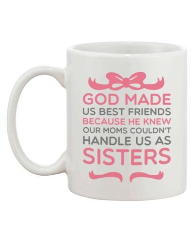 Matching BFF Coffee Mugs for Best Friends - God Made Us Best Friends