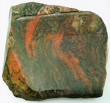 Orange Black Jasper Gemstone Slab Cabbing Rough