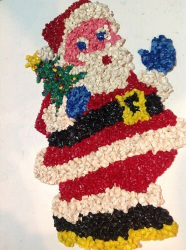 Primary image for Vintage Santa Popcorn Decoration 19 Inch Rare One