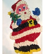 Vintage Santa Popcorn Decoration 19 Inch Rare One - $24.75