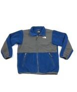 THE NORTH FACE Boys Denali Fleece Jacket Size XL Kids Blue POLARTEC Full... - $36.83