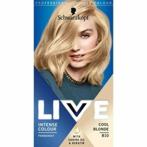 Schwarzkopf Live Intense Permanent Hair Dye Cool Blonde B10 - New Shade Colour - $15.03