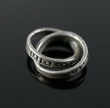 Vintage 925 Sterling Silver Best Buds Forever Locked Rings Necklace Pend... - $11.69