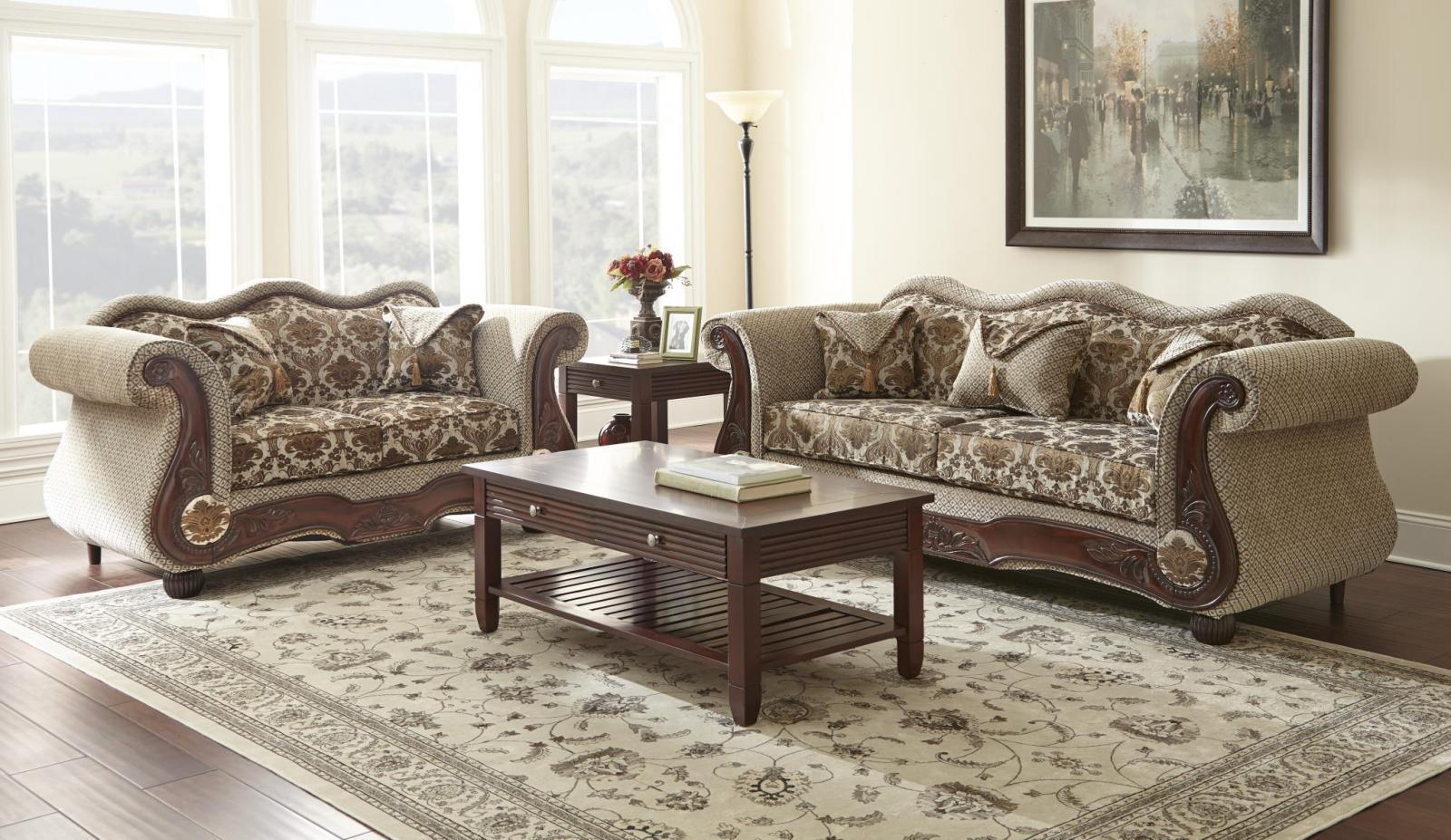 myco furniture mabelle carved wood bronze velvet fabric living room sofa sofas loveseats. Black Bedroom Furniture Sets. Home Design Ideas