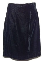 Vintage La Belle Fashions Black Velvet Straight Short Skirt Size 7/8 NWT - $12.59