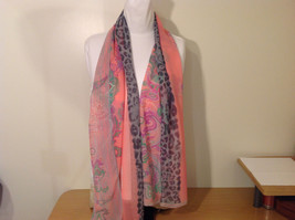 Paisley, Lines, Leopard Print Summer Sheer Fabric Multicolor Scarf, 6 colors image 2