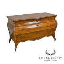 French Louis XV Style Antique Rosewood Bombe Dresser - $1,795.00