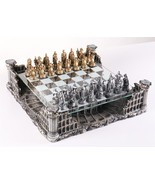 "Roman Gladiators 3D Chess Set, Bronze & Silver Color 16.25"" Roman Gladia... - $503.81"
