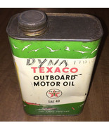 Vintage Texaco Outboard Motor Oil 1 QT Square Can Empty Patina Boats Gra... - $33.20