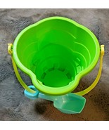 JUMBO PLASTIC BEACH SAND PAIL WITH SHOVEL 12 IN. X 10.7 IN 9 IN  NEW - $19.80