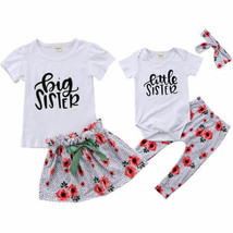 Family Matching Outfits Baby Kids Girls Little/Big Sister Matching Cloth... - $11.18+