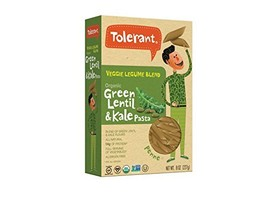 Tolerant Foods – Organic Green Lentil and Kale Pasta – Penne – 8 Oz