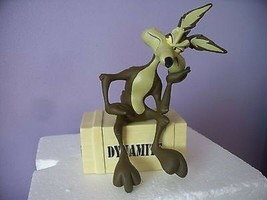 Extremely Rare! Looney Tunes Wile E Coyote on Dynamite Crate LE Figurine Statue - $495.00