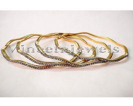 Designer Victorian Inspire 4.88Ct Rose Cut Diamond Silver Cuff Bracelet ... - $777.99