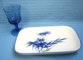 Japanese Sushi PlateTray with Blue Footed Wine Glass Setting for One - $24.97