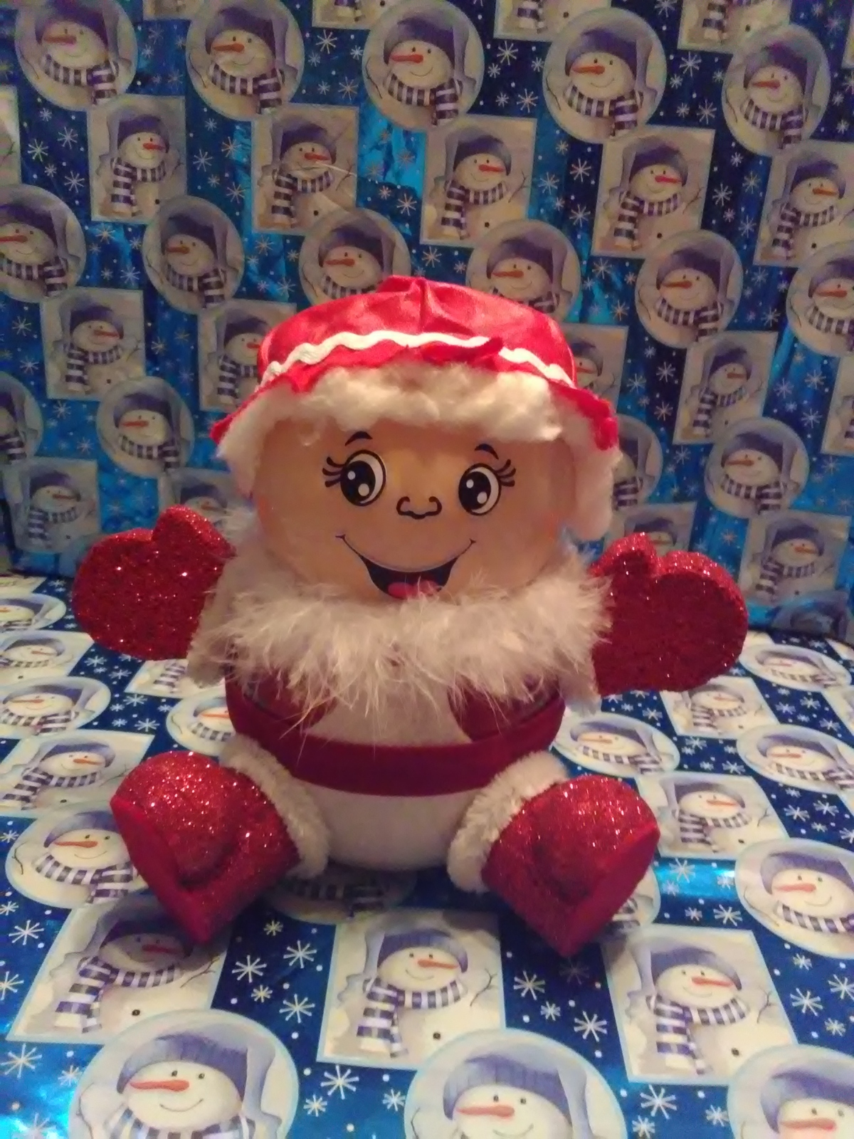 Primary image for Handmade Glass Christmas Mrs. Claus