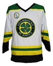 Custom Name # St John's Shamrocks Retro Hockey Jersey New White Rhea #3 Any Size image 4
