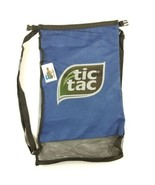 Land & Sea Backpack Tic Tac Logo Blue Beach Bag Mesh Wet and Dry  - $19.79